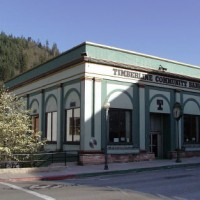 Bank in downtown Dunsmuir, California