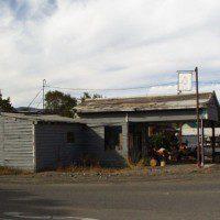 Antique gas station in Gazelle, California