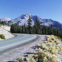 On the slopes of Mount Shasta, California