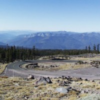 Hairpin turn on the slopes of Mount Shasta