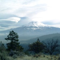 Lenticular cloud near Mount Shasta