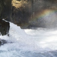 Rainbow over Lower McCloud Falls, McCloud, California
