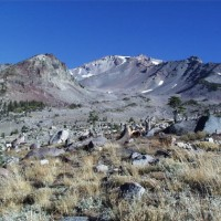 Mount Shasta, as seen from the Old Ski Bowl, Everitt Memorial Highway