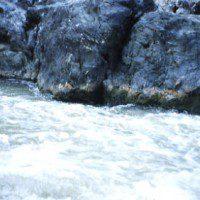 Narrow rock walls, The Trench, Klamath River, northern Siskiyou County