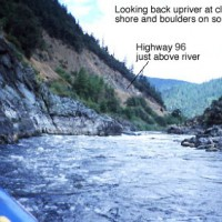 Looking upriver, The Trench, Klamath River, northern Siskiyou County